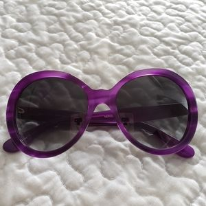 Kate Spade Nerissa purple large lens sunglasses
